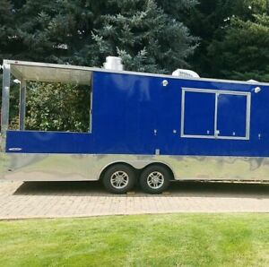 2017 8 5 X 24 Freedom Barbecue Food Concession Trailer With Porch Bbq Pit