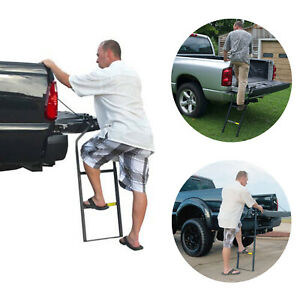 Tailgate Ladder For Dodge Ram 2500 1500 Pickup Truck Back Access Step Rack Cargo