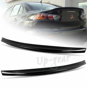 For 2008 2017 Mitsubishi Lancer Evo 10 Black Rear Trunk Duck Lid Spoiler Wing