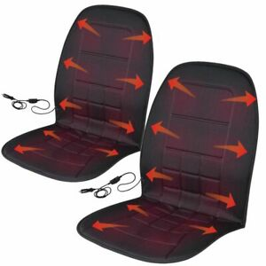 2x Heated Car Seat Warmer Back Pain Relieve Office Chair Cushion 12v Electronic