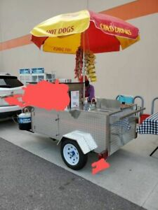 Turnkey 2019 4 X 9 Dreammaker Oceanside Pro Food Cart W Bbq Grill And Trailer