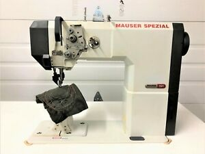 Mauzer 591 Post Top bottom Rollfeed needle Feed 110v Industrial Sewing Machine