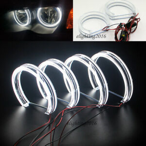 Dtm Crystal Led Angel Eyes Rings For Bmw E46 Non Projector 99 04 Car Headlight