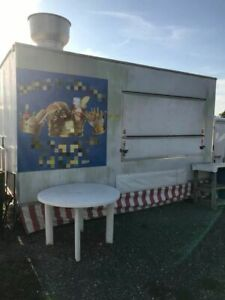 Used 12 Carmate Multi functional Food Concession Trailer Mobile Kitchen Unit Fo