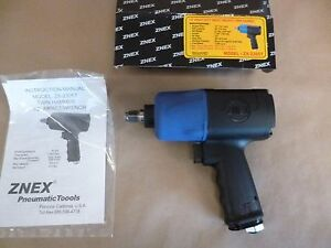 1 2 Drive Pneumatic Impact Wrench High Torque 900 Ft Lbs Twin Hammer 90 Psi