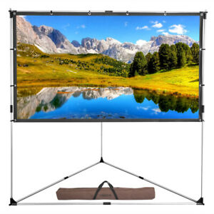 100 Triangle Stand Projector Screen 16 9 Full Hd Projection And Carry Bag