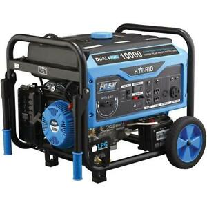 Pulsar 10 000 Watts Dual Fuel Gas propane Generator W Electric Start