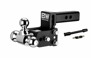 B W Hitches Ts10047b Adjustable Ball Mount With 1 7 8 X 2 X 2 5 16 Tri Ball A