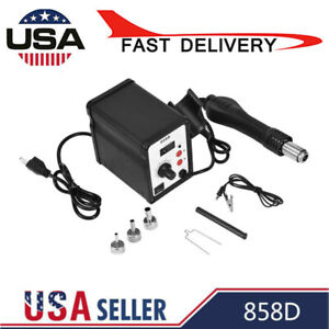 858d 700w Electric Hot Air Heat Gun Soldering Station Desoldering Tool Led Hot