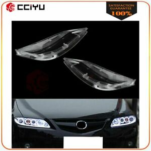 2x Headlight Lens Cover Headlamp Front Left Right Fit For 2003 2008 Mazda 6