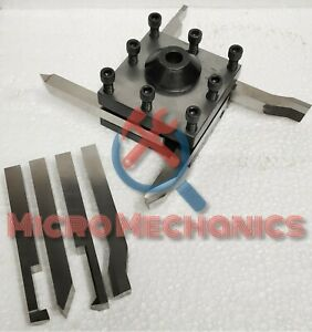 Tool Post Holder For Myford Lathes 7 16 Bore 12mm Hss Form Tools Set Of 8 Pcs