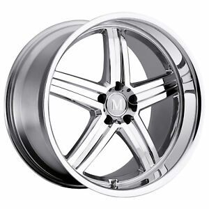 Mandrus Mannheim 20x8 5 25 Chrome Wheel Rim 5x112 qty 1