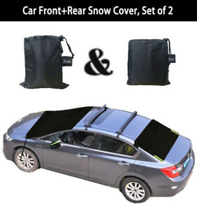 Car Front Rear Windshield Snow Cover Ice Frost Guard Winter Protector Suv Truck