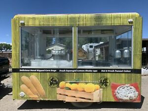 7 5 X 14 Food Concession Trailer mobile Food Unit In Excellent Working Order F