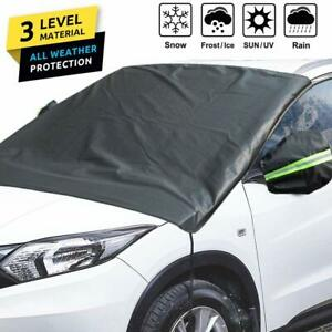 3 Layers Car Windshield Snow Cover Mirror Covers Ice Frost Wind Water Sun Proof