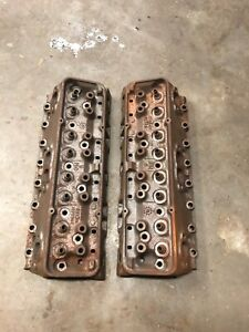 Gm 3782461 Small Block Chevy Camel Hump Cylinder Heads Pair