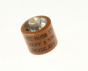 1000pf 7500v Ceramic Transmitting Doorknob Capacitor 7 5kv Dc 7 500 Volts 001uf