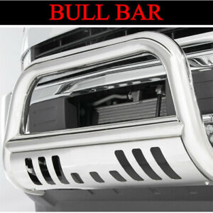 3 Chrome Bull Bar W Skid Plate Front Grille Guard Fit 2008 2016 Toyota Sequoia