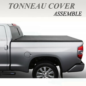 New Lock Tri fold Tonneau Cover Fit 2007 2013 Chevy Silverado 5 8ft Bed Assemble