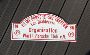 Vintage Car Club Rallye Sign Porsche Meeting Les Diablerets 1986 Organisation