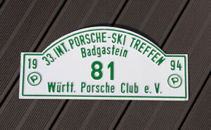 Vintage Car Club Rallye Sign Int Porsche Ski Meeting Badgastein 1994 Wac