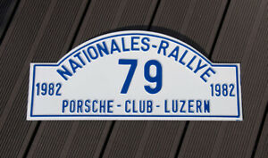 Vintage Car Club Rallye Sign Int Porsche Ski Meeting Luzern Switzerland Wpc