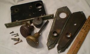Vintage Exterior Door Locks Art Deco 1920 S Complete Deadbolt