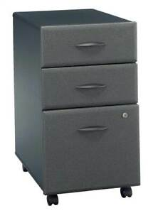 Three drawer Rolling File Cabinet In Slate Series A id 2501