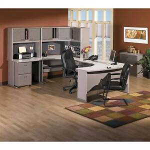 48 In Corner Desk In Pewter And White Spectrum id 2078