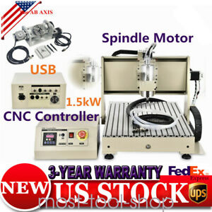 Usb 5axis Cnc 6040 Router Engraver Machine Carving 3d Cuting Milling 1500w Nice