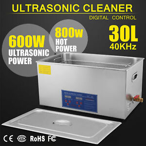 30l Ultrasonic Cleaner Stainless Steel Industry Heated Heater W timer Usa Re