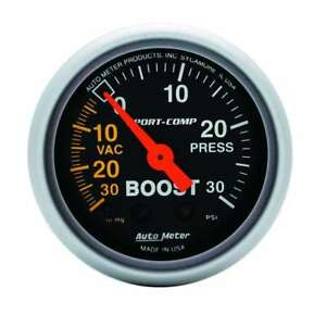 Auto Meter 3303 Gauge Vac Boost 2 1 16 30inhg 30psi Mechanical Sport Comp