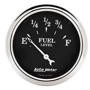 Auto Meter 1716 Gauge Fuel Level 2 1 16 73 E To 10 F Old Tyme Black