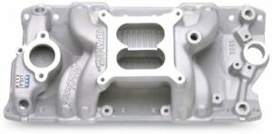 Edelbrock 7501 Aluminum Intake Small Block Chevy Sbc Rpm Air gap 327 350 383