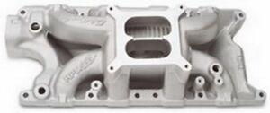 Edelbrock 7521 289 302 Small Block Ford Rpm Aluminum Air Gap Intake Manifold