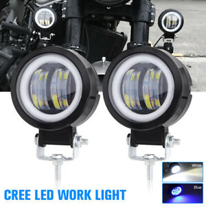 2x Cree Led Car Truck Work Spot Light Suv Atv Motorcycle Fog Headlight Universal
