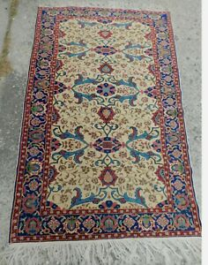 Antique Early 1900 S Oriental Rug Carpet Fine Weave Fereghan Thin Good Old 4x6