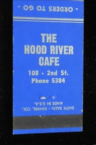 1940s The Hood River Cafe Chinese Restaurant Phone 5384 Hood River Or Matchbook