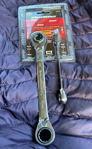 New Gearwrench 85227 2pc Metric Quadbox Reversible Ratchet Wrench Set Free Ship
