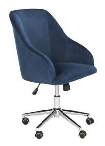 Adrienne Swivel Office Chair In Navy And Chrome id 3751809