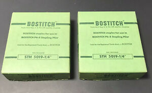 2x Vintage Bostitch High Crown Staples Sth 5019 1 4 For P6 8 Stapling Plier