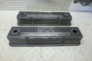 Vintage Mickey Thompson M T 140r 50b Aluminum Valve Covers For Small Block Chevy