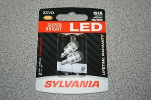 Sylvania Zevo Led 194a Amber Pair Set Led Lamps Bulbs 168 2825 New