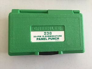 Greenlee 238 50 pin D subminiature Panel Punch
