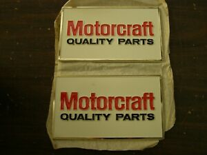 Nos Oem Ford Motorcraft Quality Parts Plaque Mustang Torino Fairlane Galaxie