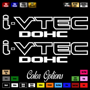 2 X I Vtec Dohc Ivtec 9 Emblem Vinyl Sticker Honda Civic Decal Drift Jdm 014