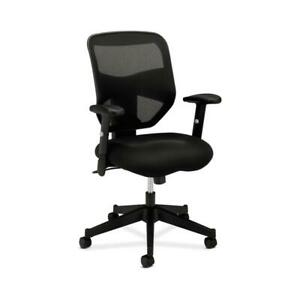 Hon Prominent Mesh High back Task Chair With Height adjustable Arms In Black