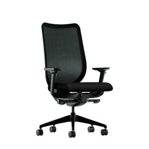 Hon Nucleus Knit Mesh Back Computer Chair With Adjustable Arms In Black