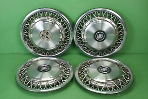 92 99 Vintage Buick 15 Inch Wire Spoke Hubcap Hub Cap Wheel Covers 1 Set Of 4