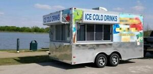 2016 8 5 X 16 Shaved Ice snowball Concession Trailer In Great Working Conditio